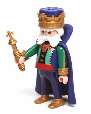 Playmobil Figure Custom Castle Chubby King w/ Cape Crown Sceptre 4165