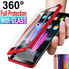 For Samsung Galaxy A72 A52 A32 S21 S20 360° Full Cover Hard Case+Tempered Glass