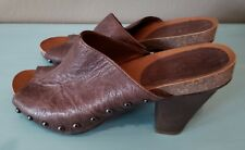 0f5b712b2a65f0 Nine West Vintage America Collection Clog Brown Sandals Size 8