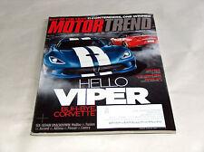 MOTORE moda dicembre 2012 Car Truck RIVISTA HI DODGE VIPER BYE CHEVY CORVETTE