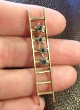 Vintage Mary Kay Gold Tone Ladder Of Success Sales Pin Brooch with Stones