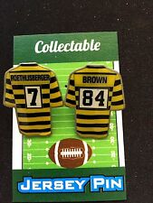 Pittsburgh Steelers lapel pin set-(2)-RetroBIG Ben and Antonio-Collectables!
