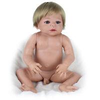 Popular 22'' Newborn Reborn Baby Boy Doll Full Body Silicone Vinyl Likelife Gift
