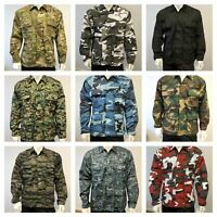 Mens Army Military Battle Dress Uniform BDU Camouflage Top Jacket Shirt