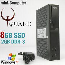KLEINE PC MINI COMPUTER FÜR WINDOWS XP 8GB SSD DDR3 RS-232 20WATT GAMES OLD ALTE