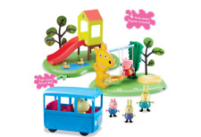 Peppa Pig & Friends en The Park con 4 Day Figuras y Accesorios Nuevo
