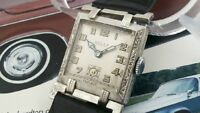 VINTAGE ROLEX  - LOVELY ART DECO CASE - MOBILE LUGS  - LUMINOUS DIAL AND HANDS