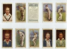Full Set, Wills, Cricketers 1928 Mainly G-VG (Ls407-332)