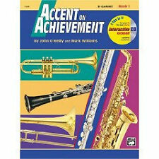 NEW Accent On Achievement Method Book 1 - Clarinet