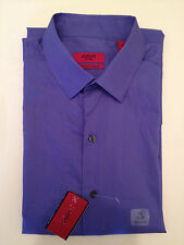 Men's Alfani RED Fitted Easy Care Stretch Dress Shirt Purple Sunset 15 34/35