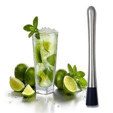 1x Cocktail Bâton Pilon Acier Inox Mixer Bar Pour Mojito Drink Bricolage Outil