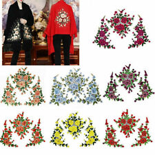 1 Set 3D Flower Embroidery Lace Applique Patches Cord Scrapbooking Motif Dress