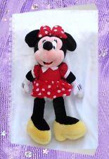 Doudou Peluche Minnie Robe Et Noeud A Pois Rouge Disney 55 cm