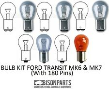 *FORD TRANSIT REAR BACK LIGHT LAMP LENS OS SIDE MK6/MK7 2000-2013 BULB KIT