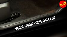 PATROL GRUNT Stickers 4X4 Turbo Diesel UTE Door Sill Funny 400mm (x2)