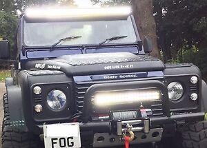 """Winch Roof Bumper Light Bar LED 120W 22"""" Spot Flood Off Road 4x4 UK 120W22A"""