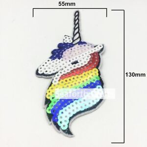 Unicorn Sew on / Iron on Embroidery Applique Fabric Patch Sew Iron Badge