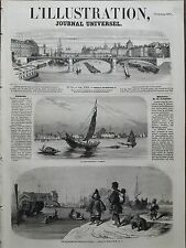 L' ILLUSTRATION 1857 N 731 LA FOLIE- HOLLANDAISE A CANTON - LES FACTORIES