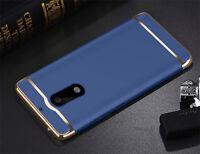 SHOCKPROOF FASHION LUXURY Thin PC Hard Back Case Cover For Nokia 6 Black & Blue