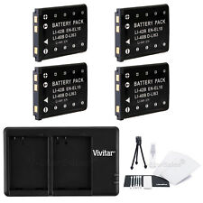4x EN-EL10 Replacement Battery and USB Dual Charger for Nikon Coolpix S3000