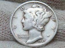 1945s MICRO S Silver Mercury Dime
