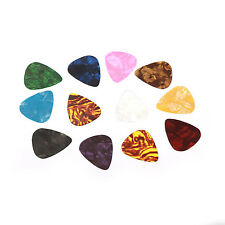 New 100pcs Guitar Picks Acoustic Electric Plectrums Celluloid Assorted Colors