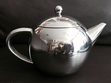 Superb Large Double Layer Insulated English Stainless Steel Designer Teapot