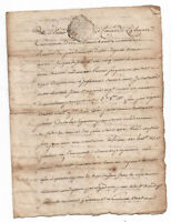 1762 king Louis XVI royal notary document 4p authentic DAMAGED