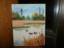 Mallard Duck Original Oil Painting Signed