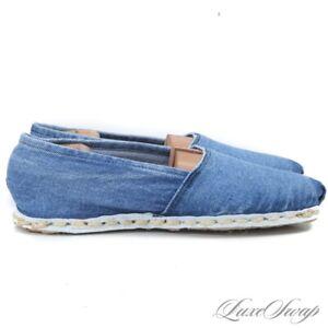NWOB RoRo Ecologico Made in Uruguay Garment Washed Denim Espadrille Shoes 43/44