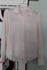 Aeropostale Pink Long Sleeve Blouse, Ladies Size Small, Adj Sleeves