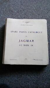 Jaguar 4.2  Mark 10 Original Spare Parts Catalogue. No.J 36. August 1965