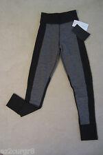 Lululemon Lab Inga Tight Pant Herringbone Black w diamond gusset Size 2 Rare