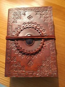 Small Brown Ethnic Vintage Leather Pocket Notebook