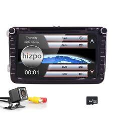 "HIZPO 8"" 2DIN Car GPS Stereo DVD Unit for VW Golf MK5 Passat Eco Radio 1080P+CAM"