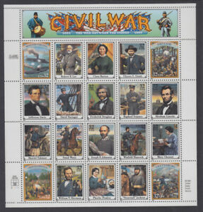 US #2975 Civil War 32 Cents Complete Sheet of 20 Mint Never Hinged