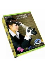 LED Headband Magnifier Magnifying Glass Loupe Jewelers 3 Lens & light MG81007-A