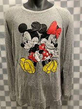 Mickey & Minnie Mouse DISNEY Soft Long Sleeve T-Shirt Size L