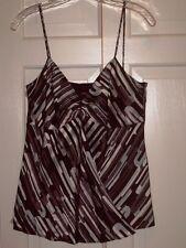 NWT Adrienne Vittadini Black Multi Silk Cami Top size 4 retail  $88