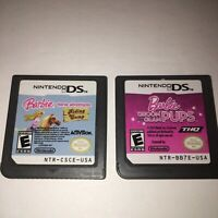 Barbie Horse Adventures Riding Camp & Groom And Glam Pups Nintendo DS Game Only
