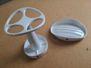 Umbra Curvino White Toothbrush Holder & Soap Dish