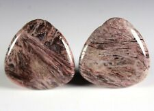 Two (2) Red Bamboo Agate 30mm Triangle Drop Drill Beads aka Red Giraffe (261)
