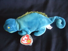 TY BEANIE BABY IGGY - THE BLUE IGUANA - MINT - RETIRED