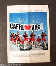 [GCG] P400 - Advertising Pubblicità -1968- CAFFE' HAG , BEVETELO IN LIBERTA'
