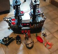 Imaginext Great Adventure Pirate Ship Plus Vehicles Lot Shark Ship Boat Cannon