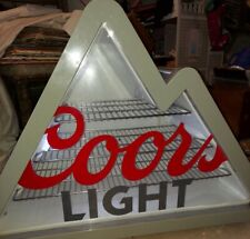 Coors Light Mountain Shaped Stainless Steel Mini Refrigerator Man Cave