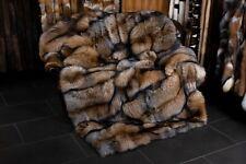 2888 Kuschelige Smokey Fuchs Pelzdecke Fuchsdecke Echtfell Echtpelz Decke Felle