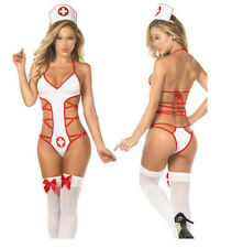 Hot Sexy Ladies Naughty Nurse Lingerie Costume Hen Party Fancy Dress Outfit