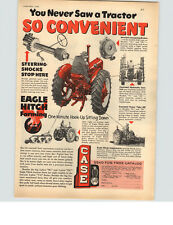 1953 PAPER AD Tractor Case Eagle Hitch Steering Shocks Hydraulic Control Plow
