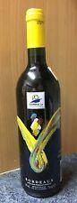 bouteille sérigraphiée et relief -  pleine vin rouge - mondial FOOT 98